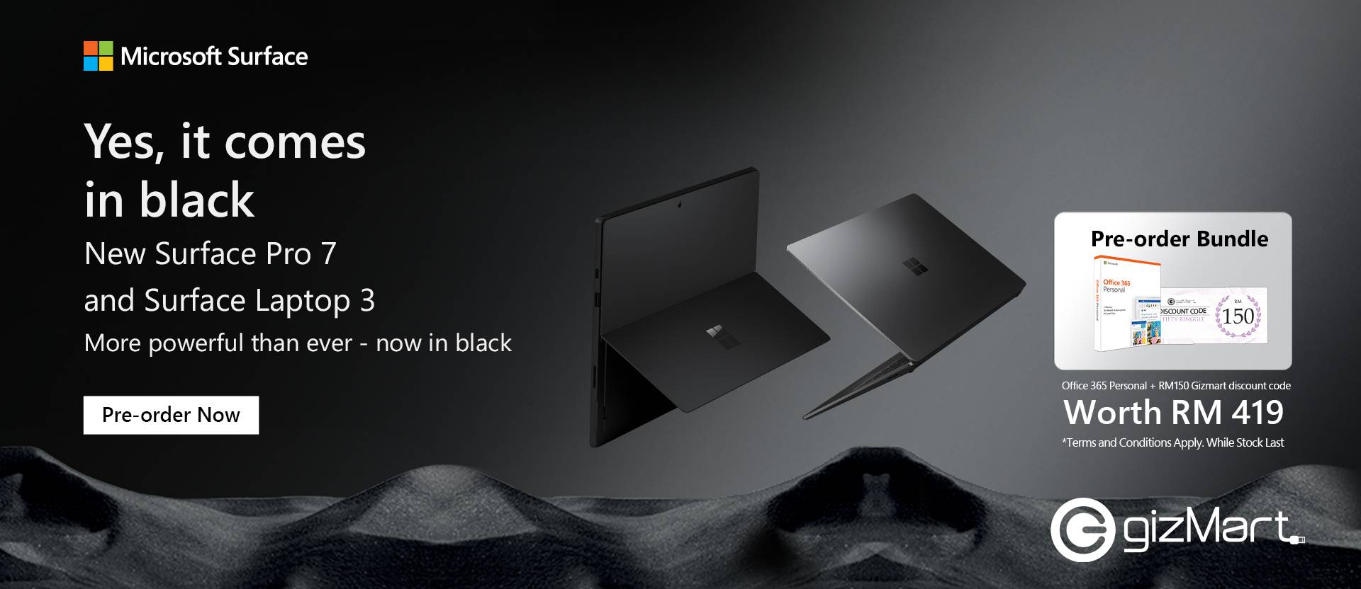 Surface Pro 7 & Surface Laptop 3 Pre-Order