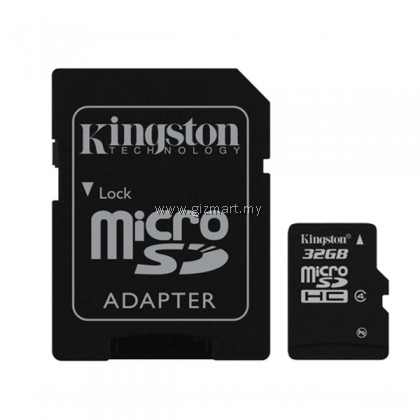 KINGSTON CANVAS SELECT MICRO SD CLASS 10 32GB WITH ADAPTER MEMORY CARD
