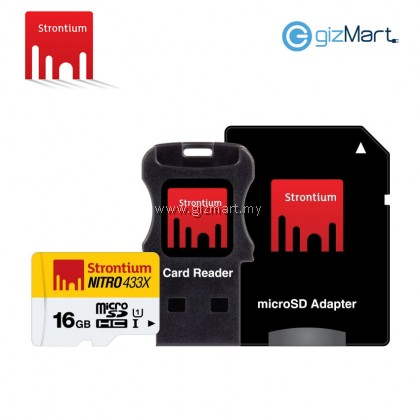 STRONTIUM MICRO SDHC UHS-1 CARD (65MB/S 433X)-16GB