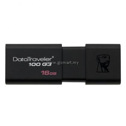 Kingston DataTraveler 100 Generation 3 16GB USB 3.0 Flash Drive (Black)
