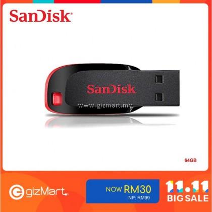 SanDisk Cruzer Blade 64GB USB 2.0 Flash Drive (SDCZ50-064G-B35) Pendrive