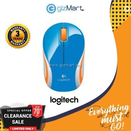 Logitech M187 Wireless Mini Mouse (910-002743) (Blue)