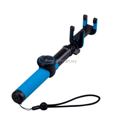 Momax KMS7 Selfie Hero Tripod 100cm with Bluetooth remote shutter and tripod stand (Blue)