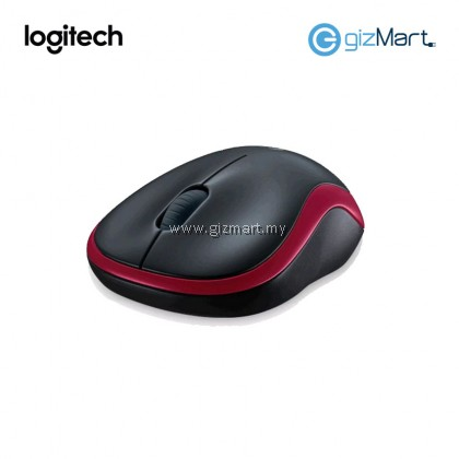 Logitech M185 Wireless Mouse - Red (910-002503)
