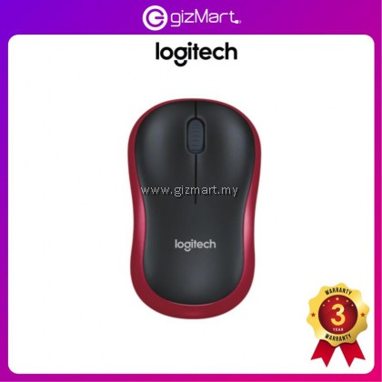LOGITECH M185 Wireless Mouse (Grey 910-002255 / Blue 910-002502 / Red 910-002503)
