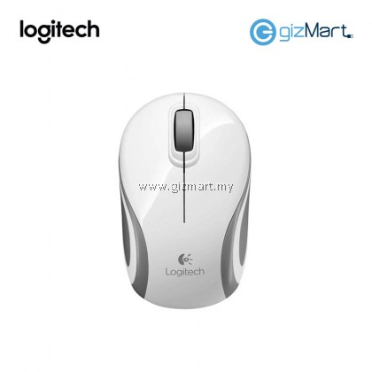 Logitech M187 Wireless Mini Mouse (910-002783) (White)