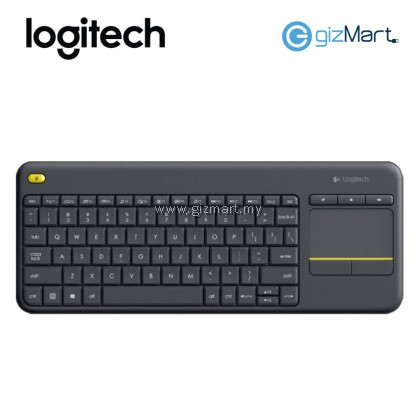 LOGITECH K400 PLUS WIRELESS TOUCH KEYBOARD (920-007165) (BLACK)