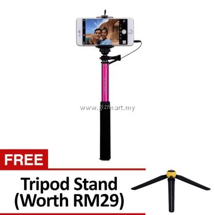 MOMAX KMS1C SELFIE EASY SELFIE POD 92CM -PINK 【FREE Tripod Stand】