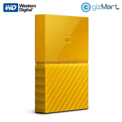 "Western Digital My Passport 2.5"" 1TB External Hard Disk (Yellow)"