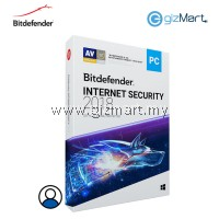 Bitdefender Internet Security 2018 - 1 User | 1 Year (License Key Only)