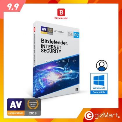 Bitdefender Internet Security - 1 User | 1 Year (License Key Only)