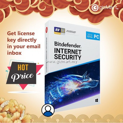 Bitdefender Internet Security - 1 User | 1 Year (License Key Only)