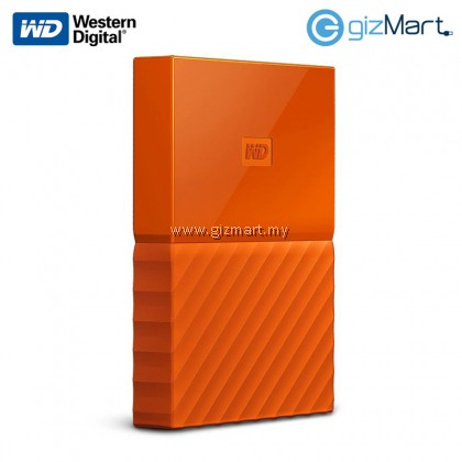 "Western Digital My Passport 2.5"" 1TB External Hard Disk (Orange)"