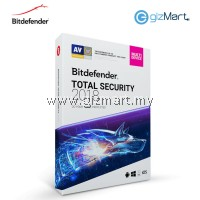 Bitdefender Total Security Multi-Device 2018 - 5 Users | 1 Year (License Key Only)
