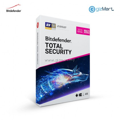 Bitdefender Total Security Multi-Device - 5 Users | 1 Year (License Key Only)