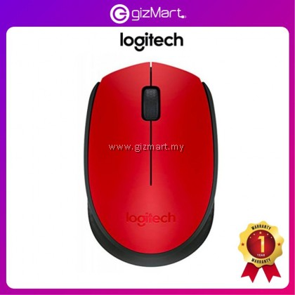 Logitech M171 Wireless Mouse - Red (910-004657)