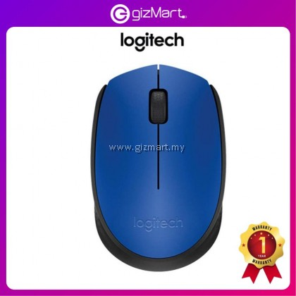 Logitech M171 Wireless Mouse - Blue (910-004656)