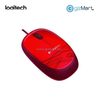 Logitech M105 Wired Mouse-Red