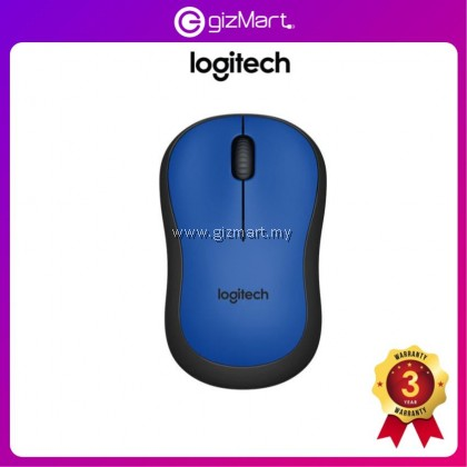 Logitech M221 Silent Wireless Mouse (Charcoal 910-004882 / Blue 910-004883 / Red 910-004884)