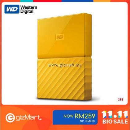 "Western Digital My Passport 2.5"" 2TB External Hard Disk (Yellow WDBS4B0020BYL-WESN)"