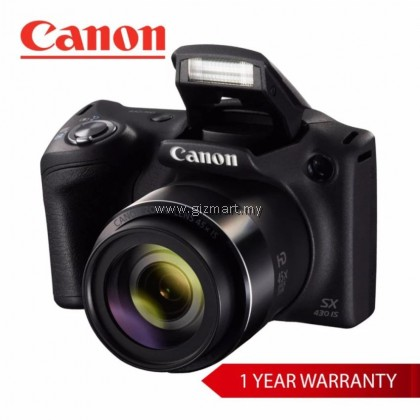 Canon PowerShot SX430IS - Black + FREE 16GB SD Card