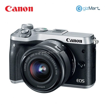 Canon EOS M6 Mirrorless Digital Camera EF-M15-45 IS STM KIT