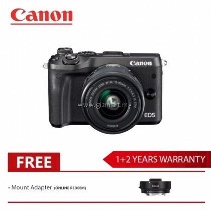 Canon EOS M6 Mirrorless Digital Camera EF-M15-45 IS STM KIT (Black)