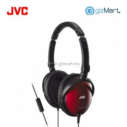 JVC HA-SR625 Portable Over Ear Headphone With Mic & Remote (Red)