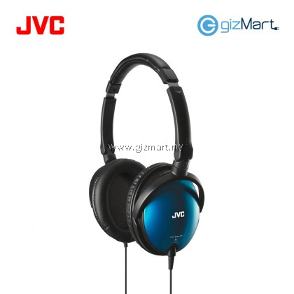 JVC HA-SR625 Portable Over Ear Headphone With Mic & Remote (Blue)
