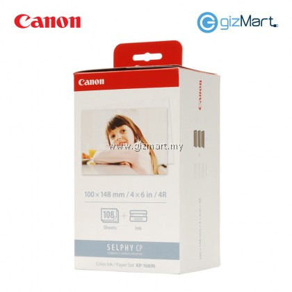 Canon 4R Paper For Selphy CP Series KP-108IN (108Sheets)