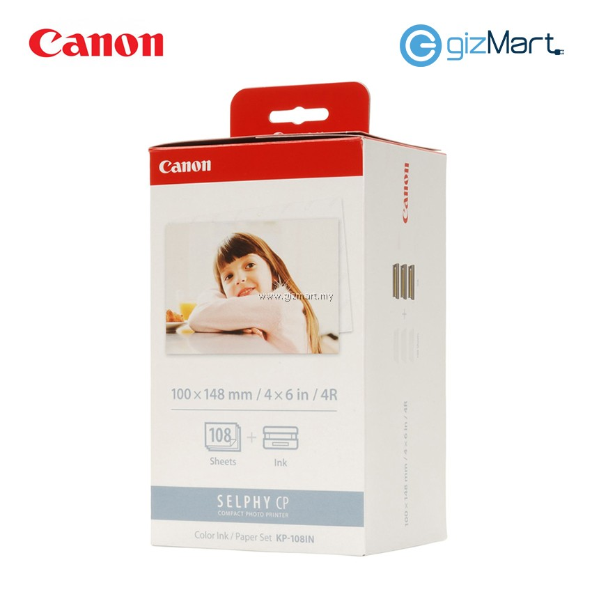 Canon 4R Paper For Selphy CP Series KP-108IN (108Sheets