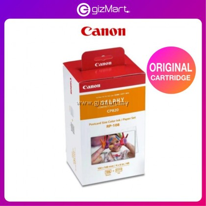 Canon Selphy Color Ink Paper Set RP-108 108 Sheets For CP910 CP820 CP1200