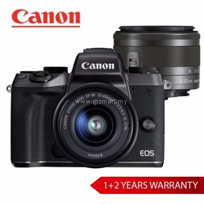 Canon EOS M5 Digital Mirrorless Camera EF-M15-45 IS STM KIT (Black)