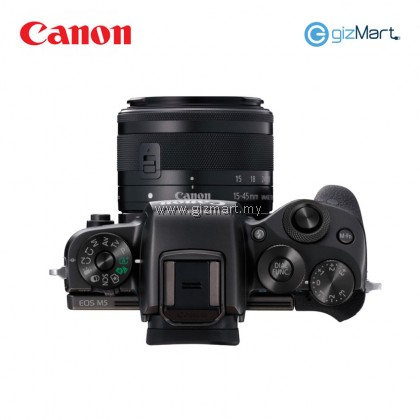 Canon EOS M5 Digital Mirrorless Camera EF-M15-45 IS STM KIT (Black)