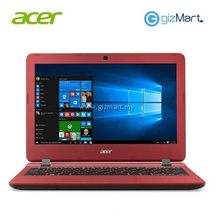 "ACER Aspire ES11 ES1-132-C6DW 11.6"" Laptop-Red (N3350, 4GB, 500GB, Win10)"