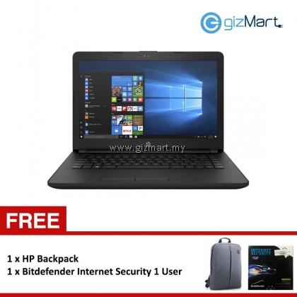 """HP 14-bs537tu (2BD72PA) 14"""" Laptop Black (N3060, 4GB DDR3L, 500GB, DVD, WIN10) + FREE Bitdefender Internet Security 1 User"""