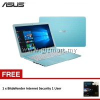 "Asus VivoBook Max X441S-AWX044T 14"" Laptop Blue (N3060, 4GB, 500GB, Intel, W10H) + FREE Bitdefender Internet Security 1 User"
