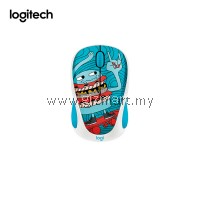 Logitech M238 Doodle Collection Wireless Mouse (Skateburger)