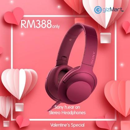 Sony MDR-100AAP 'Hi-Res Audio' Over-Ear Headphones (PINK)