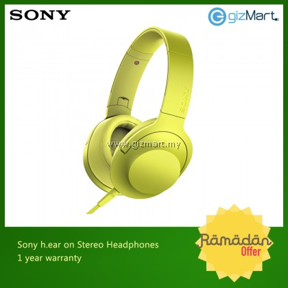 Sony MDR-100AAP 'Hi-Res Audio' Over-Ear Headphones (YELLOW)
