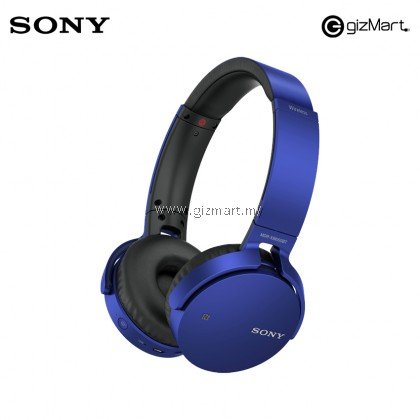 Sony MDR-XB650BT Extra Bass Bluetooth WIreless Headphones (Blue)