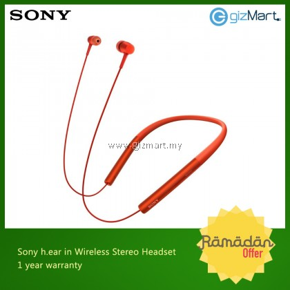 Sony MDR-EX750BT Hear In Wireless Headphones Microphone (Red)
