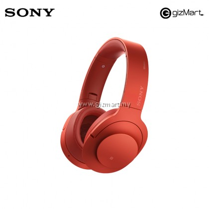 Sony MDR-100ABN/R Hear on Wireless NC Headphones  (Red)