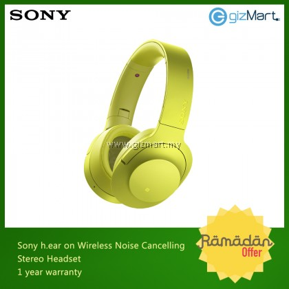 Sony MDR-100ABN/Y Hear on Wireless NC Headphones (Yellow)