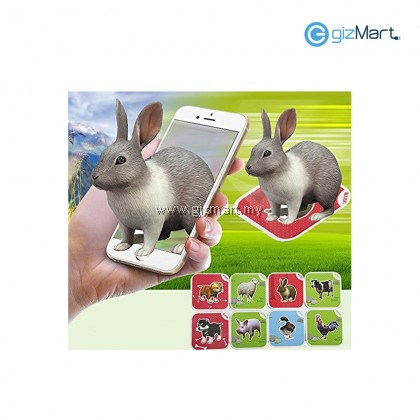 Fancy Zoo AR 4D Flashcards Magic Animal Educational Game 68 pcs