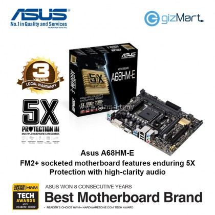 ASUS A68HM-E Amd FM2+ Motherboard