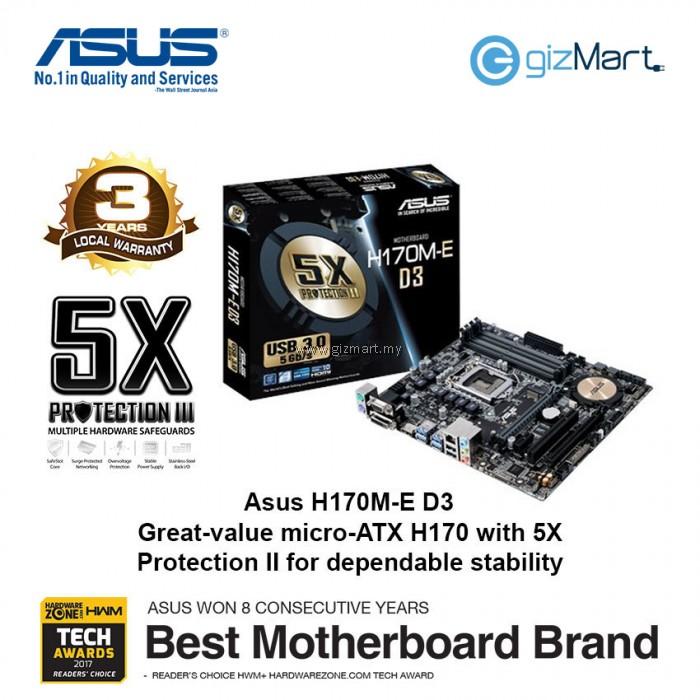 ASUS H170M-E D3 Lga1151 Motherboard | gizMart.my | Gadgets ...