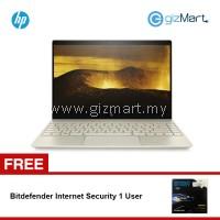 """HP ENVY 13-ad102TU 13.3"""" FHD Laptop Gold (i5-8250U, 8GB, 256GB, Intel, W10) + FREE Bitdefender Internet Security 1 User"""
