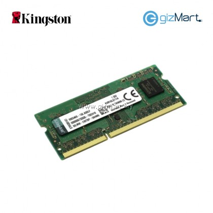 Kingston ValueRAM 4GB DDR3L-1600 1.35V Low Voltage 204-Pin Laptop RAM