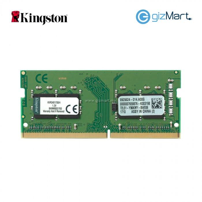 Kingston 4GB 2400MHz DDR4 CL17 Laptop RAM KVR24S17S8 4